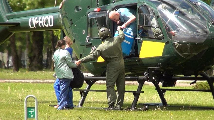 Į Vilnių sraigtasparniu atskraidintas donoro organas