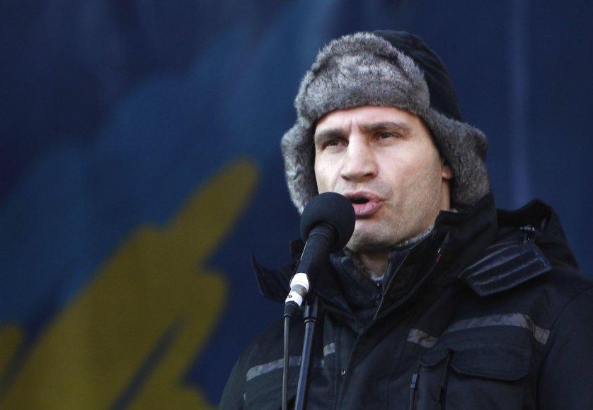 Sekmadienio mitingas Kijeve: susirinko daugiau nei 50 tūkst. opozicijos šalininkų, kalba Vitalijus Klyčko