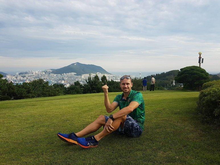 Justinas Kinderis Pietų Korėjoje