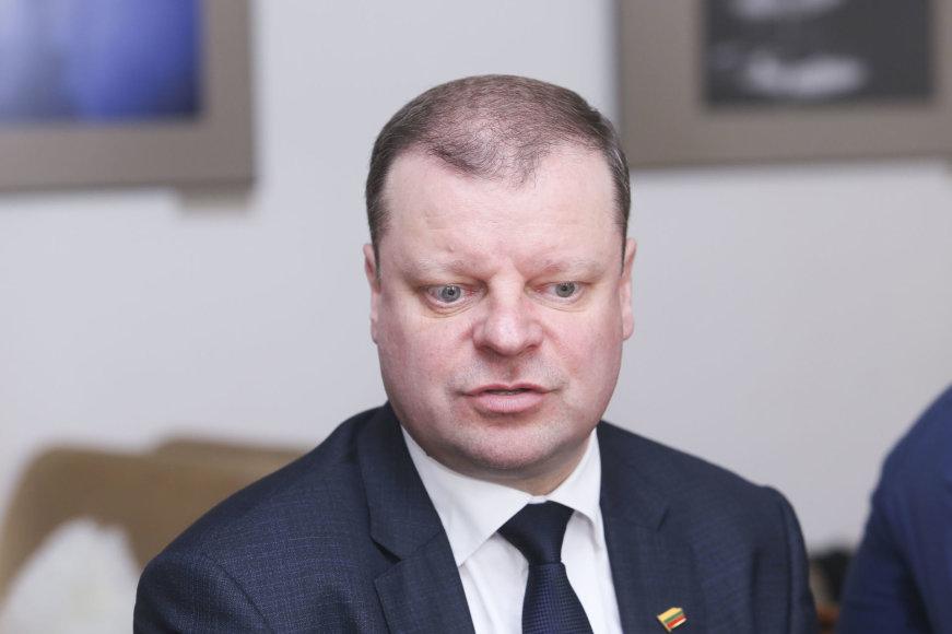 Saulius Skvernelis susitiko su žurnalistais