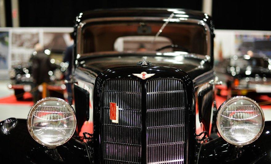 """GAZ-M1, """"Oldtimer Gallery"""" senovinių automobilių paroda Maskvoje"""
