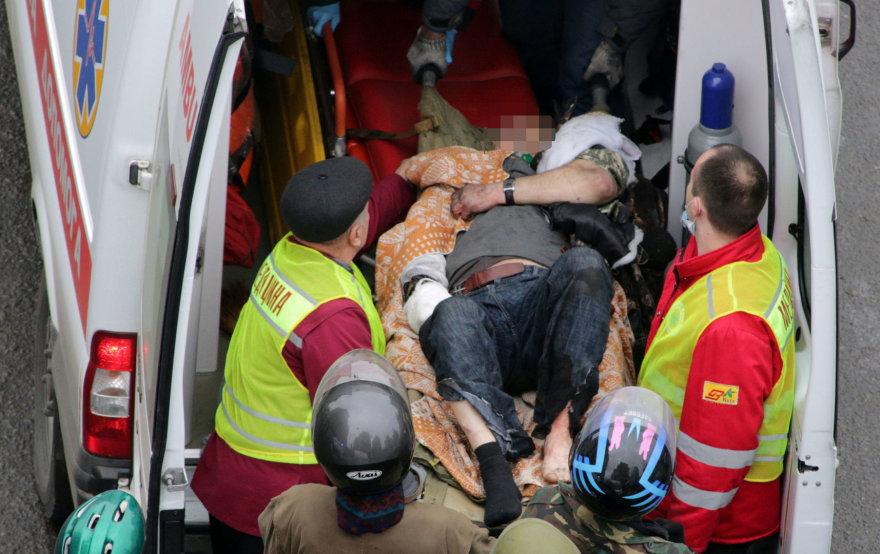 Sužeistas protestuotojas