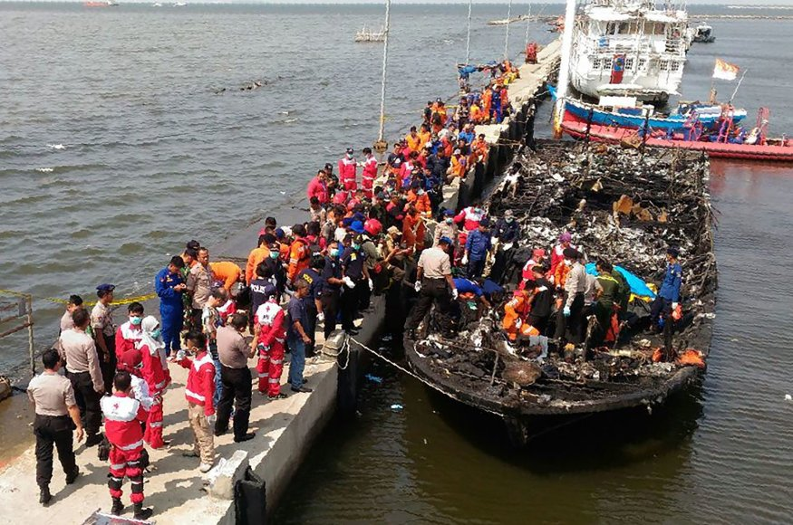 Indonezijos kelte kilo gaisras