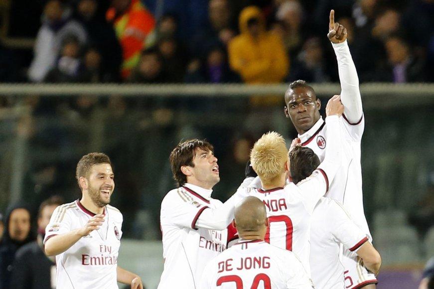 """Mario Balotelli ir """"Milan"""" triumfas"""
