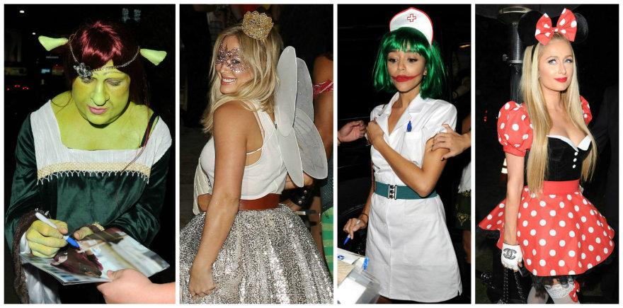 Žvaigždės švenčia Heloviną: Coltonas Haynesas, Hilary Duff, Ashley Madekwe ir Paris Hilton