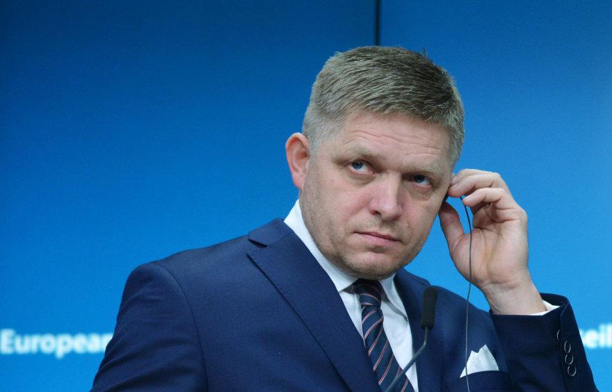 Slovakijos premjeras Robertas Fico