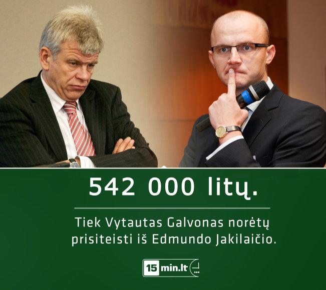 Vytautas Galvonas norėtų prisiteisti iš Edmundo Jakilaičio 542 tūkst. litų.