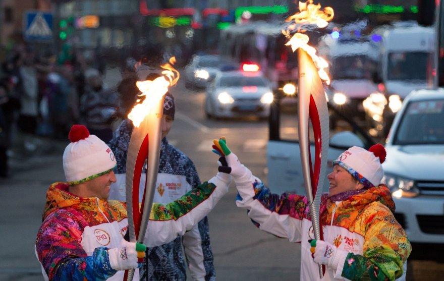 Sočio olimpinės ugnies estafetė