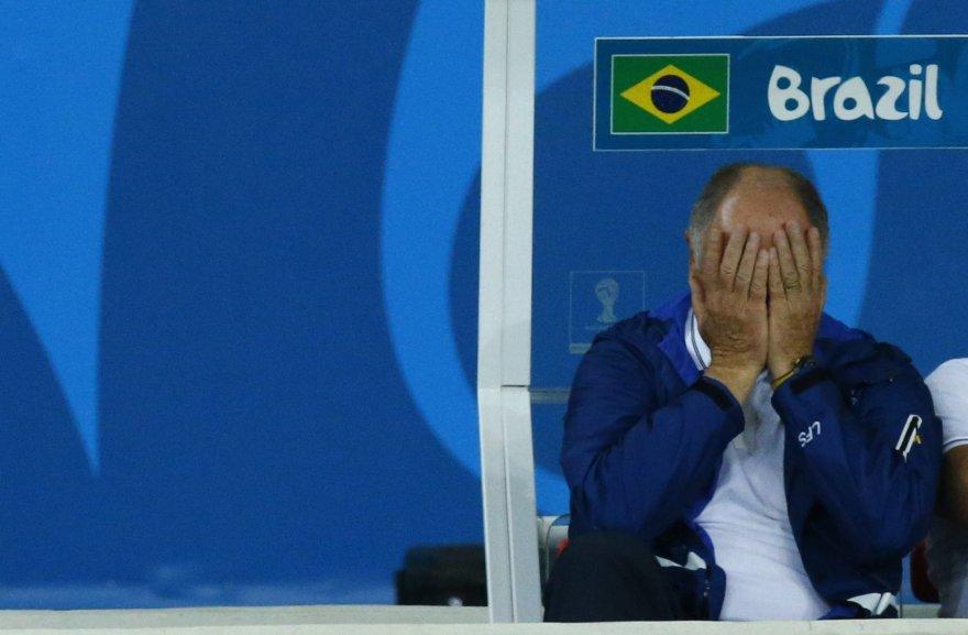 Brazilijos futbolo rinktinės treneris Luisas Felipe Scolari