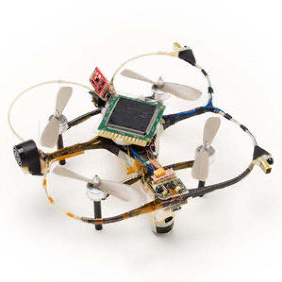 Dronas su specialiu lustu gali mokytis skrisdamas