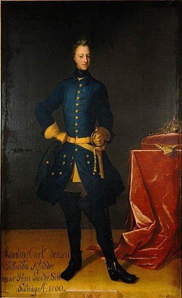 Švedijos karalius Karolis XII. Davido von Krafto paveikslas