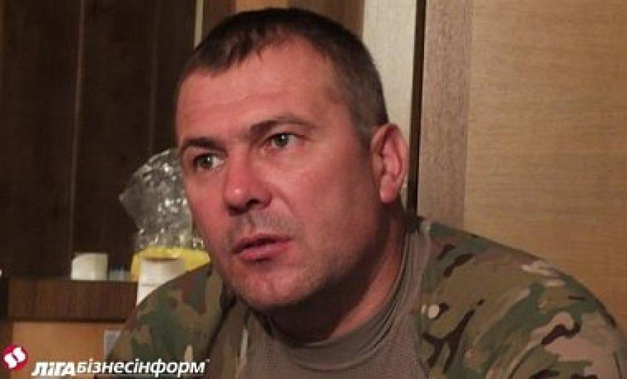 """Ukrainos savanorių bataliono """"Dnepr 1"""" vadas Jurijus Bereza"""