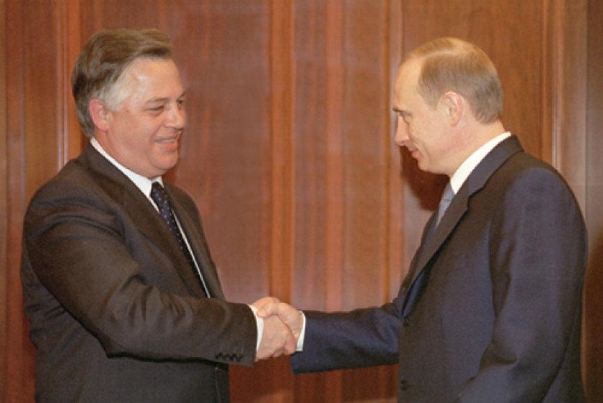 Petro Symonenko ir Vladimiras Putinas
