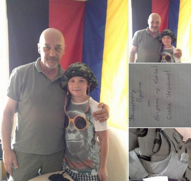 Berniukas iš Kijevo nusprendė visas savo santaupas skirti Ukrainos kariams.