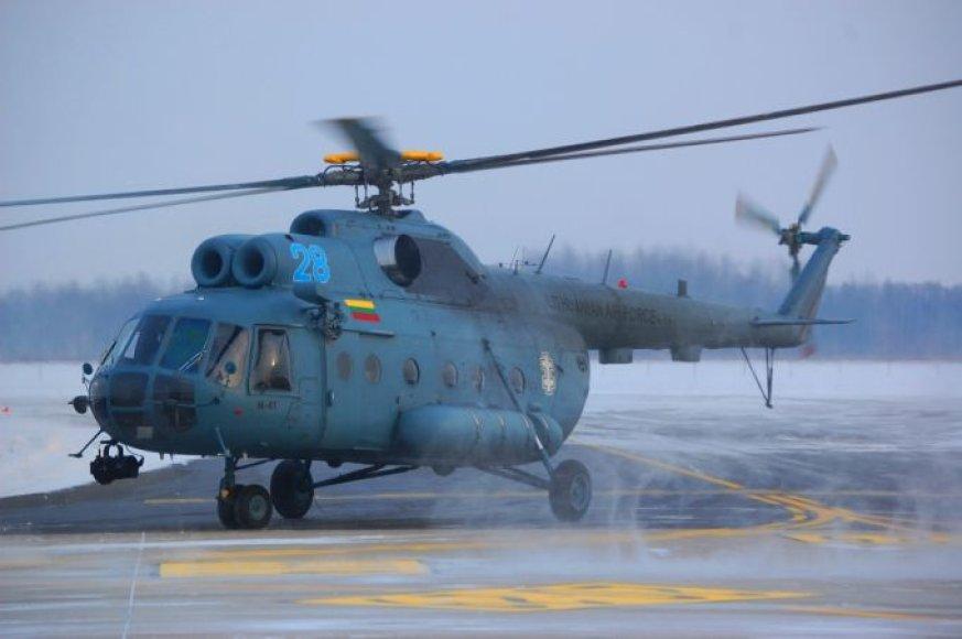 Lietuvos karinių oro pajėgų sraigtasparnis Mi-8