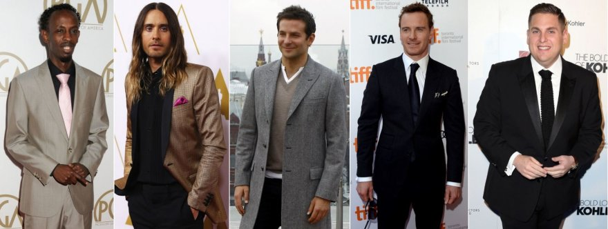 Barkhadas Abdi, Jaredas Leto, Bradley Cooperis, Michaelas Fassbenderis ir Jonah Hillas