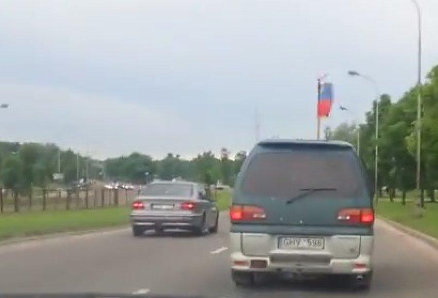 Rusijos vėliava savaitgalį Vilniuje