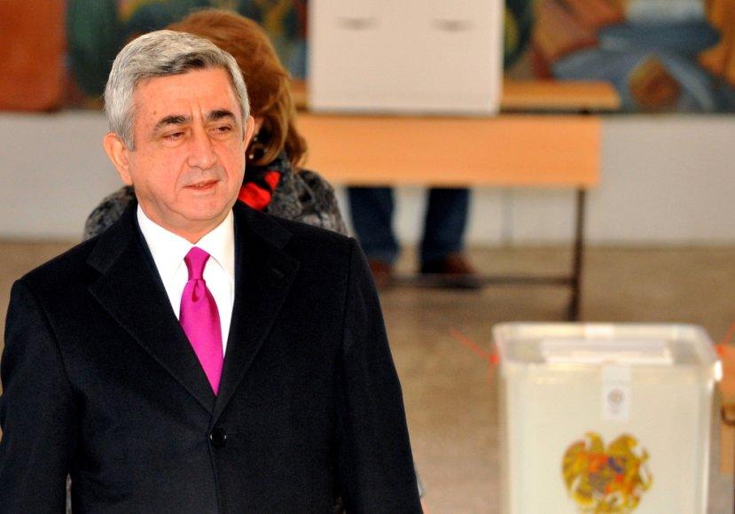 Armėnijos prezidentas Seržas Sarkisianas