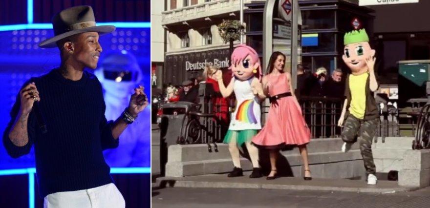 """Po pasaulį plinta Pharrello Williamso dainos """"Happy"""" virusas"""
