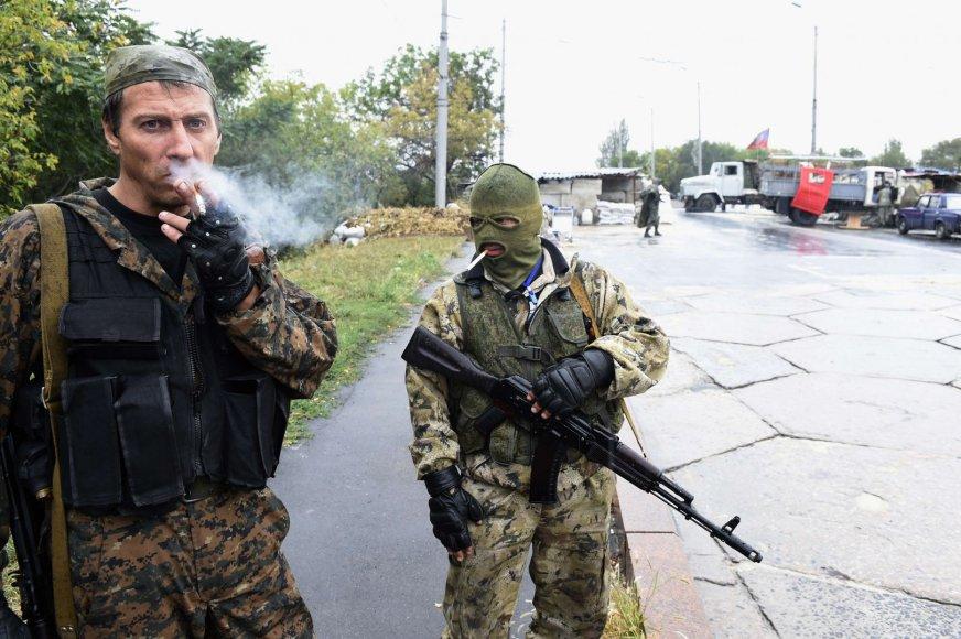 Teroristai kontroliuoja kelia, vedantį į Donecko oro uostą.