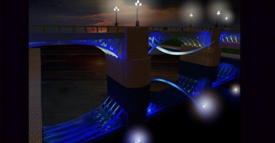Žvėryno tilto apšvietimas