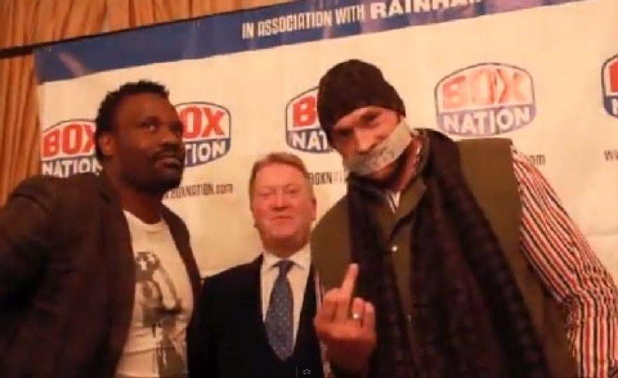 Tysonas Fury spaudos konferencijoje