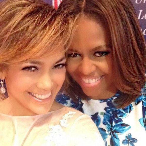 Jennifer Lopez ir Michelle Obama