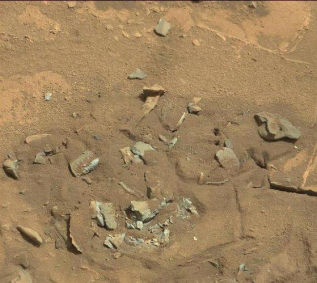Į žmogaus šlaunikaulį panašus objektas Marse