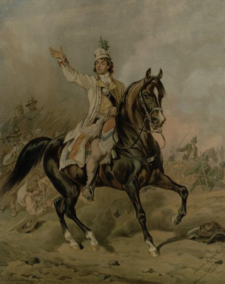Tadas Kosciuška. S. Wandsbecko litogr. pagal J. Kossako paveikslą. XIX a. pab