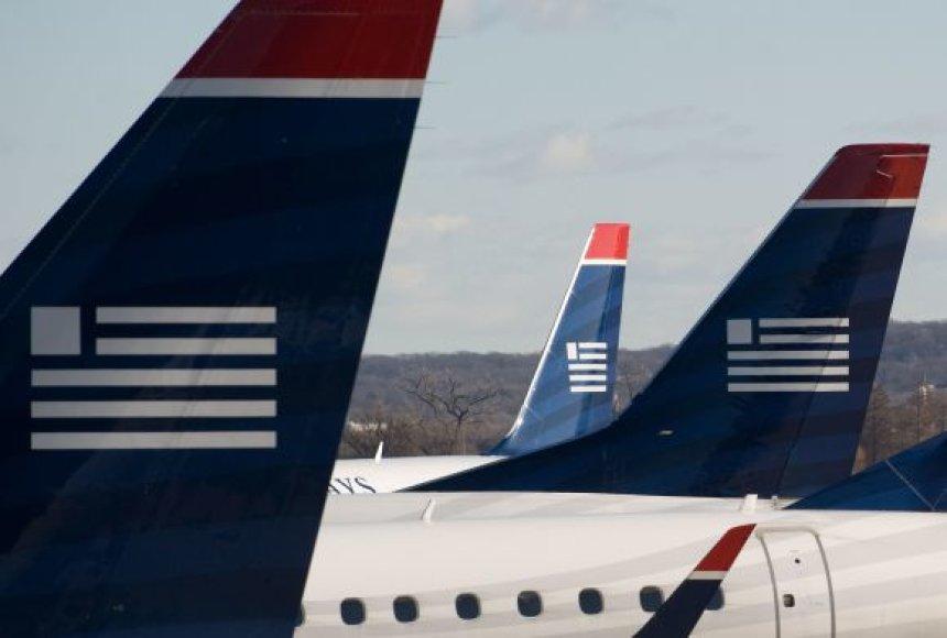 US AIRWAYS lėktuvai