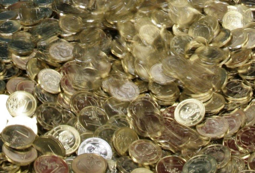Vieno euro monetos