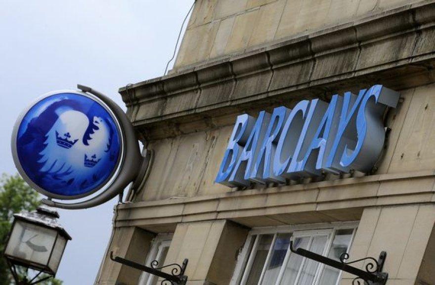 """Didžiosios Britanijos """"Barclays"""" yra vienas iš 15 bankų, kurių turtas viršija metinį savo šalių BVP."""