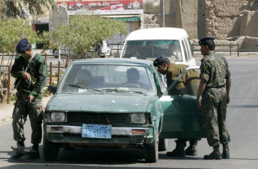 Jemeno policijos pareigūnai