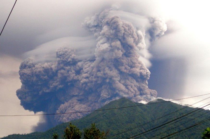 Vulkano išsiveržimas.
