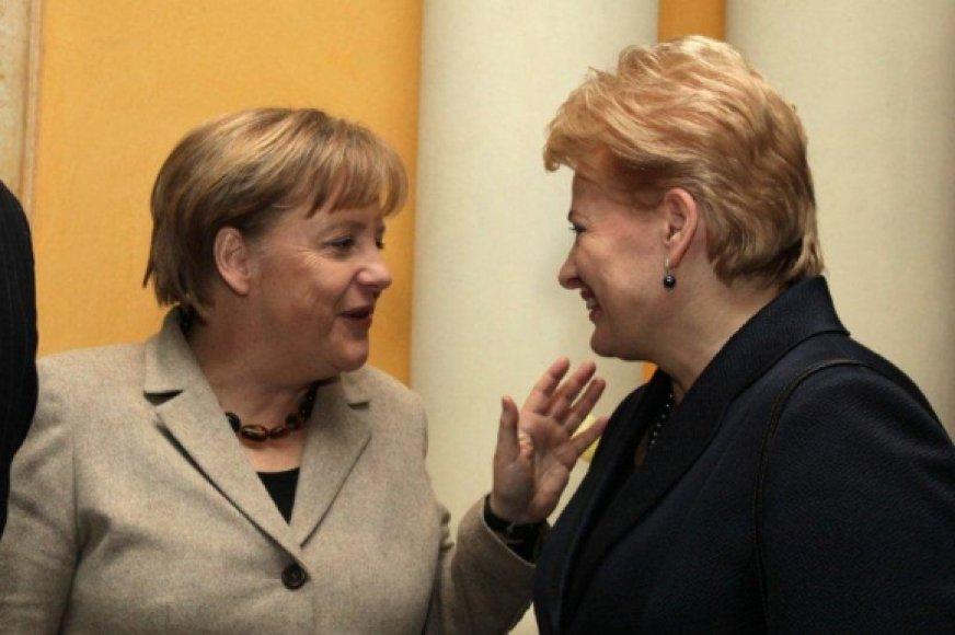 D. Grybauskaitė ir A.Merkel