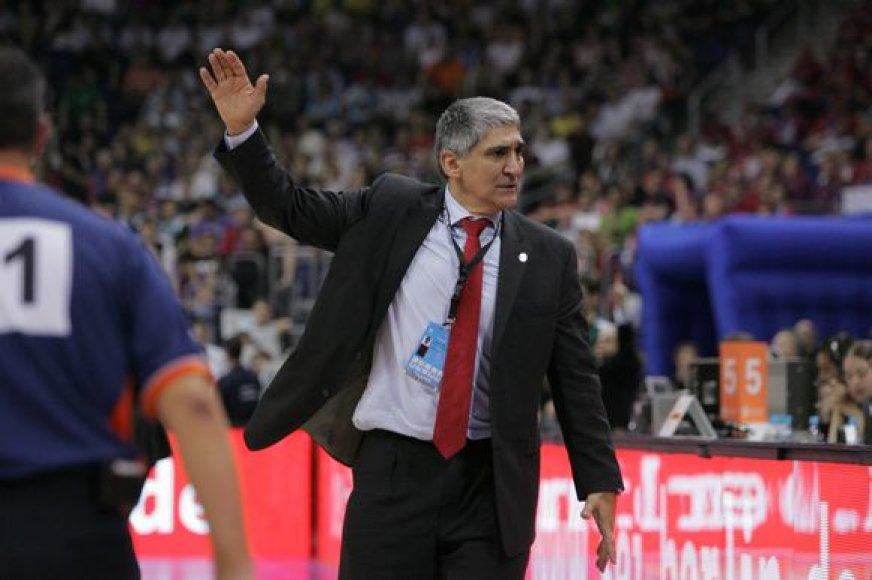 """""""Olympiacos"""" treneris P.Giannakis nepatenkintas"""