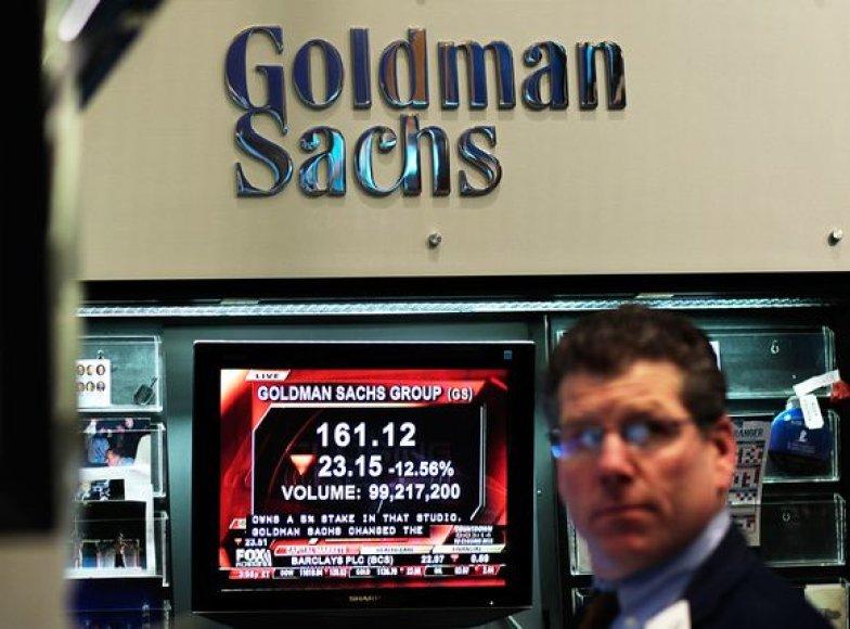 """""""Goldman Sachs"""" apkaltintas sukčiavimu Jungtinėse Valstijose"""