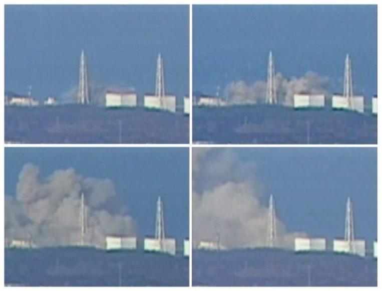 Sprogimas Fukušimos-1 atominėje elektrinėje