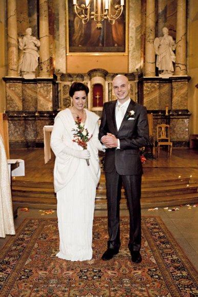 Alicia Gian ir Marius Mačiulis vestuvių dieną