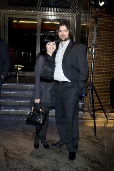 Eglė Visockaitė-Damaševičienė su vyru Mariumi Damaševičiumi