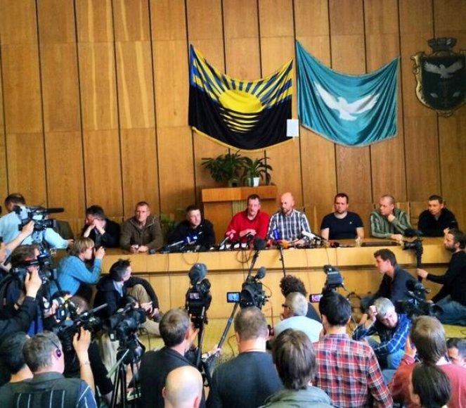 ESBO misijos narių spaudos konferencija