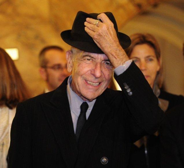 Legendinis Kanados atlikėjas Leonardas Cohenas