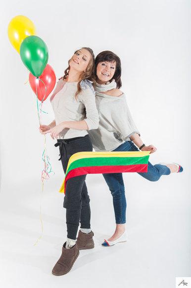 Kristina Kaikarienė su dukra Kriste