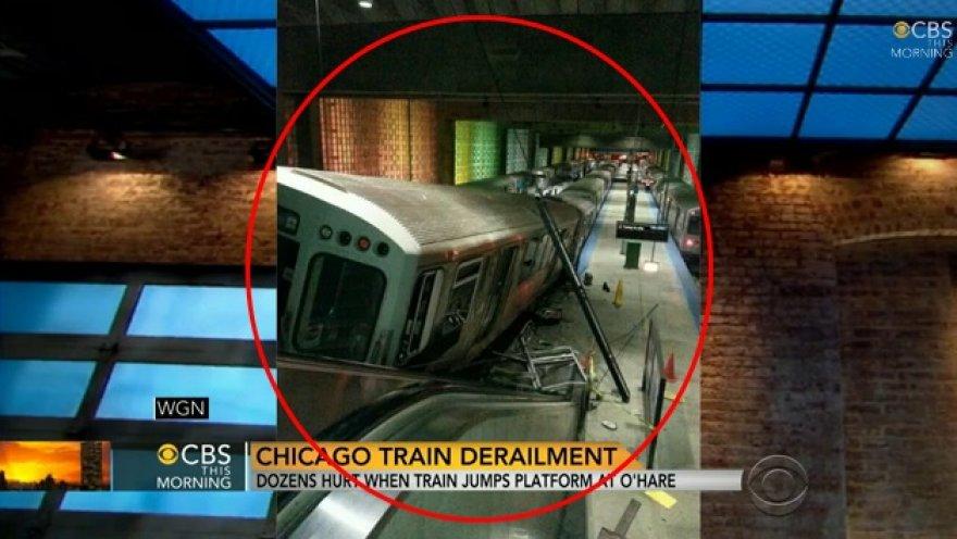 Čikagoje – priemiestinio traukinio avarija.