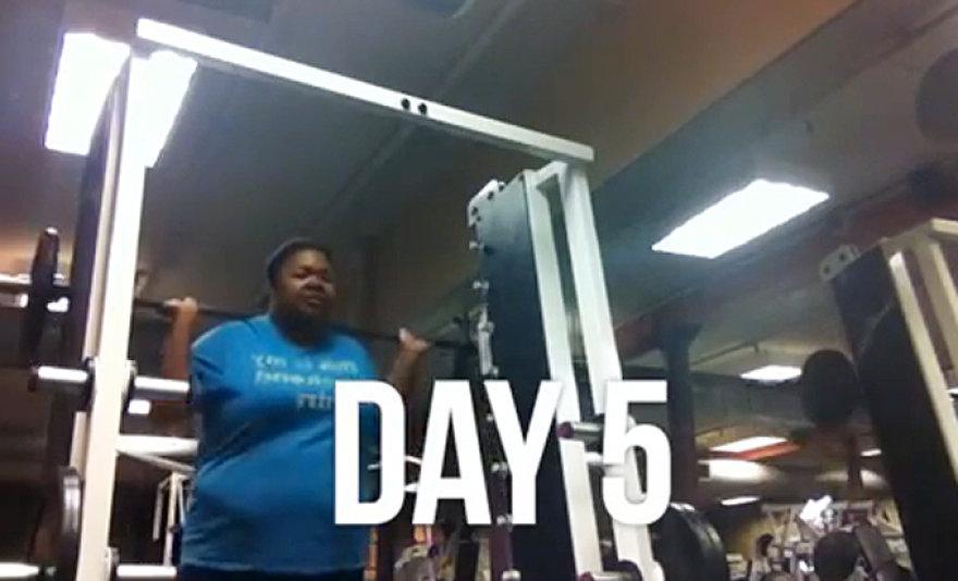 LaKeisha Shurn: 100 dienų sporto salėje