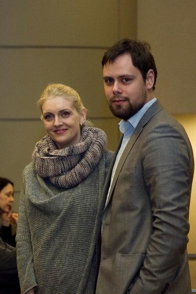Rūta Ščiogolevaitė su vyru Rolandu Damijonaičiu