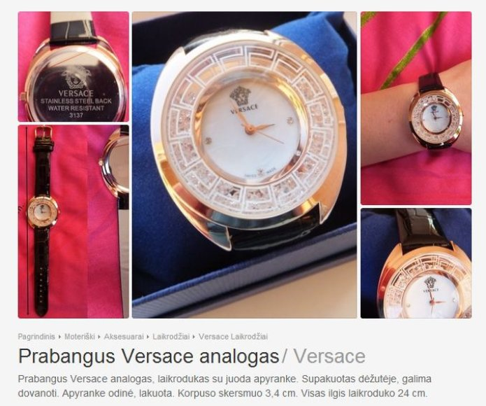 Versace analogas