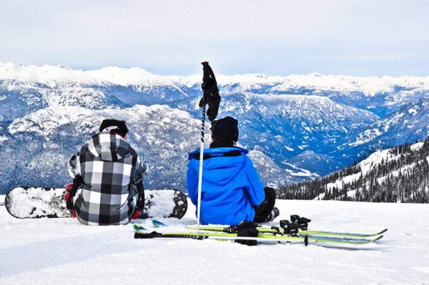 Vistlerio ir Blekombo slidinėjimo kurortai Kanadoje