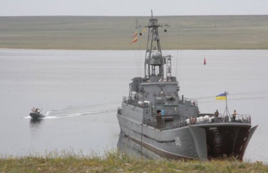 Ukrainos laivas Donuzlavo ežere