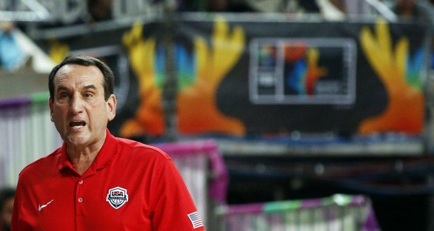 JAV rinktinės treneris  Mike'as Krzyzewsky